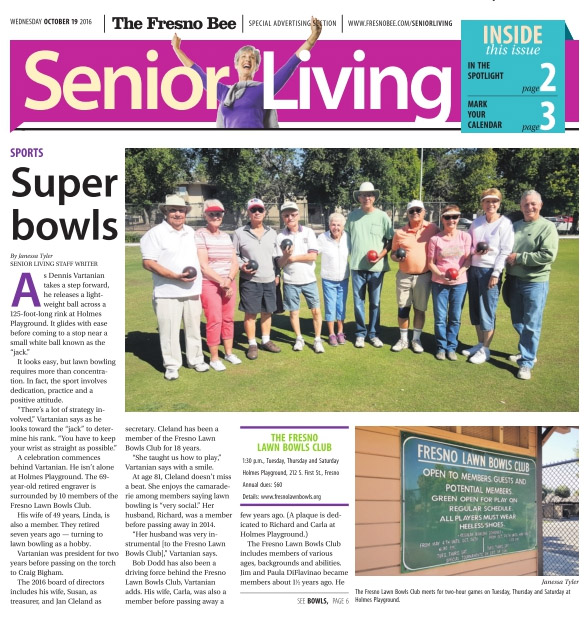 Fresno lawn bowling central california