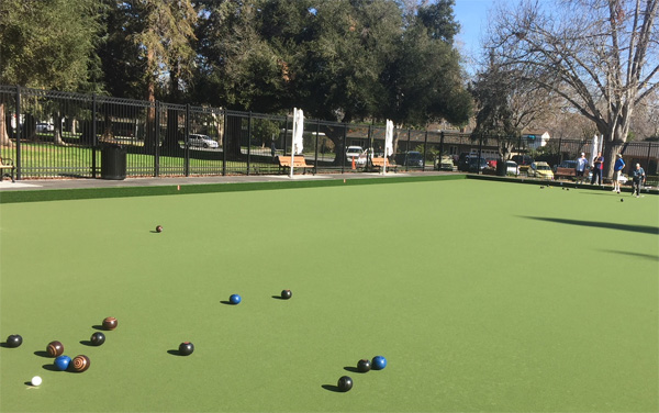 Lawn Bowls San Jose too fast a green